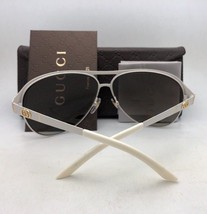New GUCCI Sunglasses GG 4273/S KJ1VK 52-19 Round Ruthenium Frame w/Grey Gradient