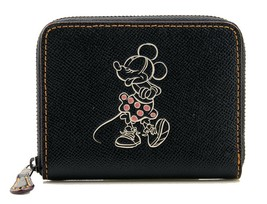 NWT COACH DISNEY Minnie Mickey Mouse Small Zip Wallet Card Case F29377 B... - $110.33