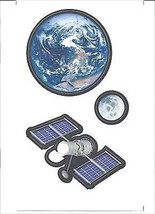 Outer Space Items 12 Peel & Stick Appliques KID5031 - $12.22