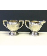 2 KALO Hand Wrought Hammered Sterling Silver Creamer Pitcher & Sugar Bow... - $391.05