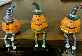 Jack-O-Lantern Shelf Sitter With Dangling Legs Choose 1 From 3 Styles 5 ... - $5.00