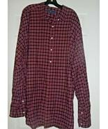 Ralph Lauren Red Black Plaid Shirt Sz. 3XLT Mens Button Down Cotton - $22.77