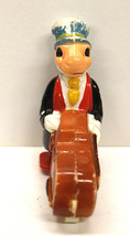 Vintage Walt Disney Jiminy Cricket Ramp Push Walker Hard Plastic Hong Kong Works - $22.43