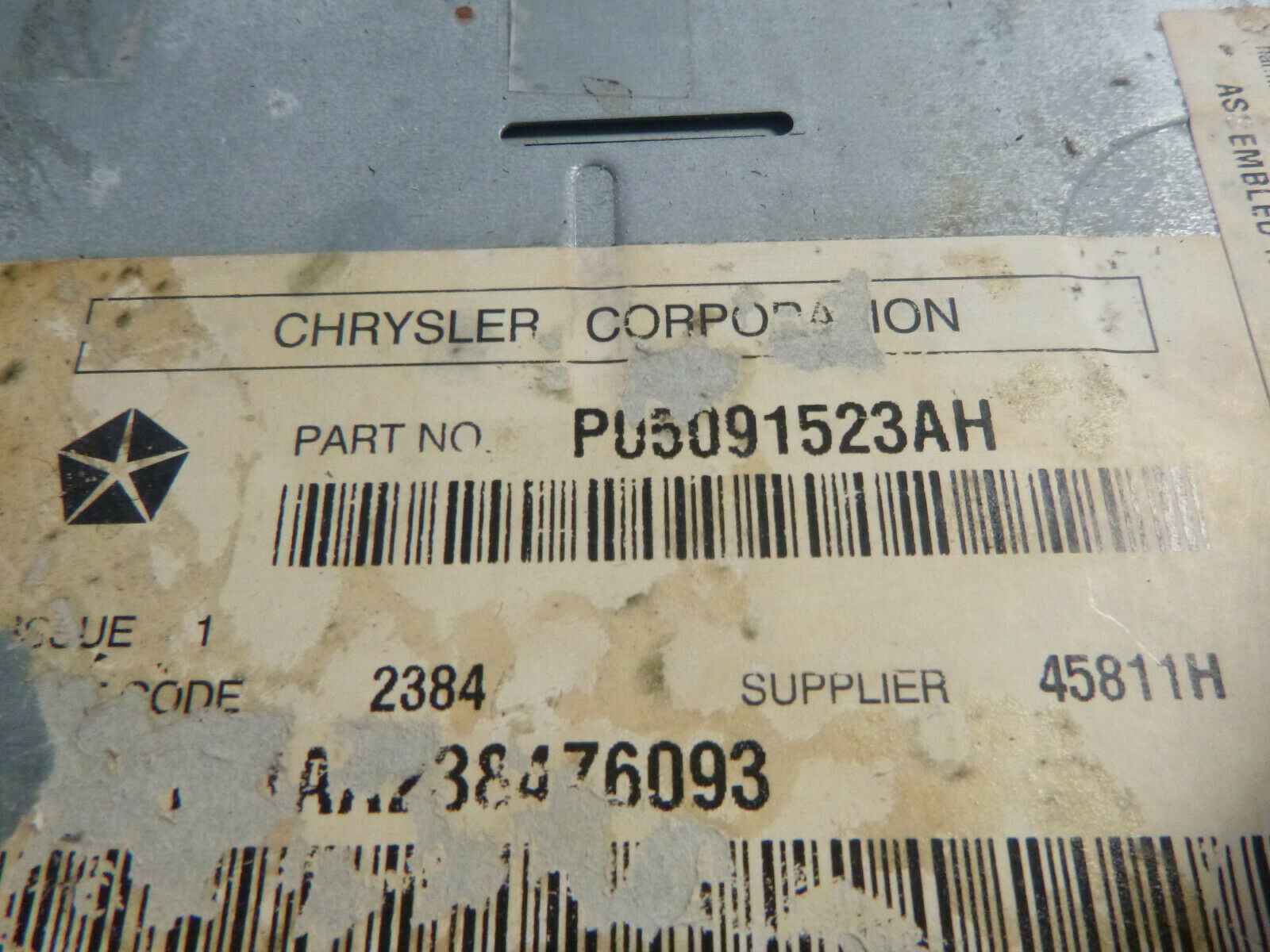 05-09 Chrysler Dodge RAK Radio 6 Disc Cd Mp3 Cassette Player P05091523AH RKV847 image 3