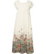 Big Girl Tween 7-16 Crochet Lace Chiffon Border Maxi Dress, Bonnie Jean - $39.95
