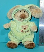 """Ty Pluffies Baby PJ Bear Teddy Small 8"""" Plush Green Removable Bunny Paja... - $29.95"""