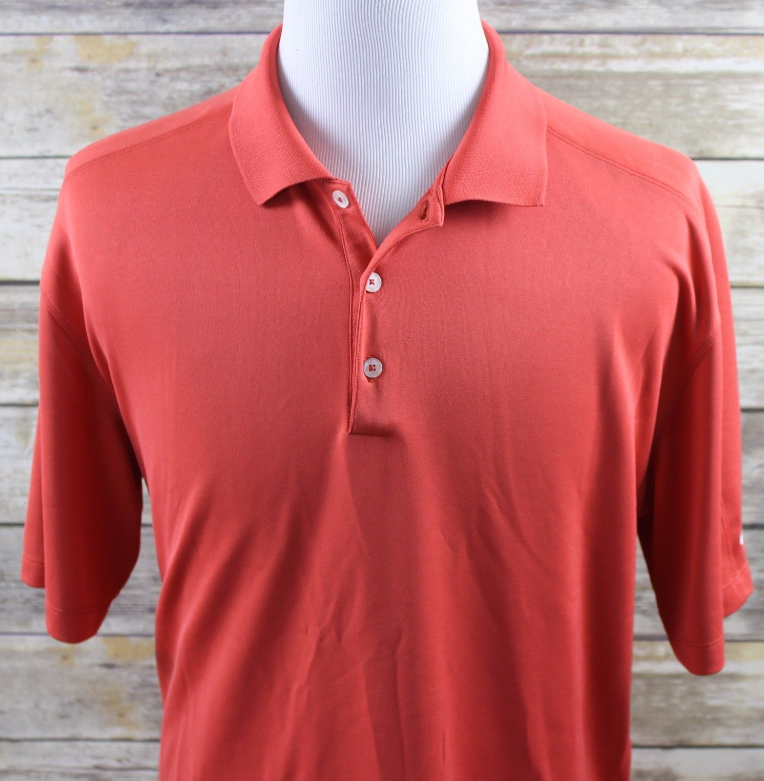 f5b985860 NEW Nike Golf Dri-Fit Solid Short Sleeve Polo Shirt MENS XL Red ...