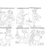 c1915 Mother Goose Rhymes -redwork outlines embroidery pattern BBC20s   - $10.00