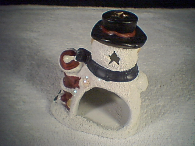 SNOWMAN CANDLE HOLDERS~~nib~~