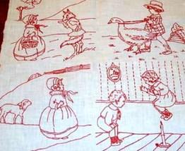 Vintage 1920s REDWORK VOGUE Nursery quilt blocks transfer pattern   - $10.00