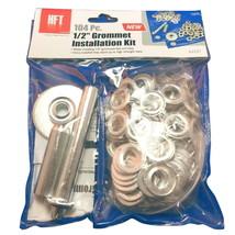 "Steel Grommet Installation Kit 104 Piece 1/2"" Tent Tarp Repair/Modificat... - $12.95"