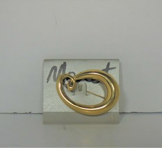 Vintage Gold Tone Monet Pin Brooch New on Card - $10.88
