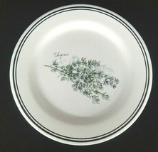 """Williams Sonoma 8 1/2"""" Salad Plate Herb Thyme Made Portugal - $6.92"""