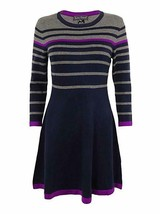Jessica Howard Petite Sweater Dress Sz PM Navy Blue Multi Business Casua... - €44,80 EUR