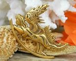 Vintage salvador dali winged angel pin brooch judaica israel signed thumb155 crop