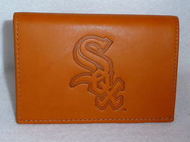 CHICAGO WHITE SOX MLB SPORTS BROWN EMBOSSED LOGO TRIFOLD WALLET - €20,27 EUR