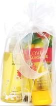 Bath & Body Works Love & Sunshine Lotion, Spray & Lemon Hand Cream Travel - $17.37