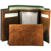 HOUSTON TEXANS NFL FOOTBALL SPORTS EMBOSSED LOGO TRIFOLD WALLET - €22,91 EUR