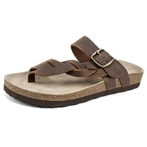 White Mountain Shoes Honor Women's Sandal, Brown/Leather, 9 M - $46.91