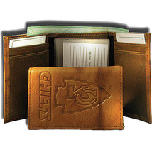 KANSAS CITY CHIEFS NFL FOOTBALL SPORTS EMBOSSED LOGO BILLFOLD OR TRIFOLD... - €22,09 EUR