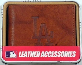 LOS ANGELES DODGERS MLB SPORTS BROWN EMBOSSED LOGO BILLFOLD OR TRIFOLD W... - €19,54 EUR