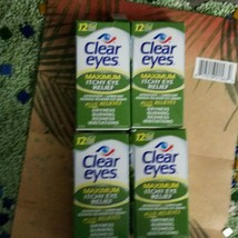 5PK 15ml CLEAR EYES MAXIMUM ITCHY EYE RELIEF Total 60ML EXP 2019-2020 - $23.25