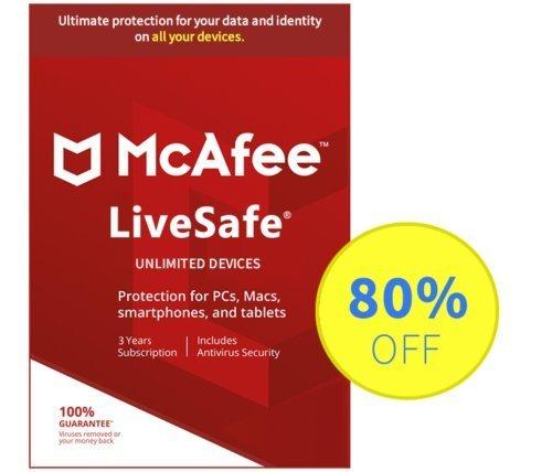 mcafee livesafe renew with product key