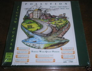 EPA TERRENE PUZZLE WATER POLLUTION EDUCATIONAL SEALED