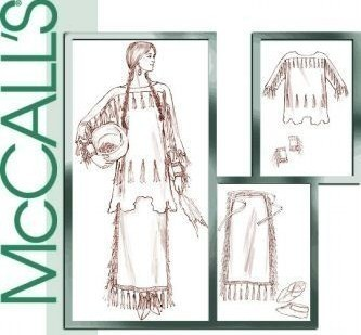Primary image for McCall's M4891 Native American Plains Indian Costume Pattern XS-M