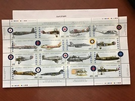Canada Air Force planes m/s mnh 1999  stamps - $11.00