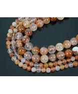 Natural Blood Quartz Gemstone Round Spacer Beads 15.5'' 4mm 6mm 8mm 10mm... - $10.03+