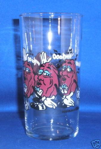 CALIFORNIA RAISINS DRINKING GLASS 1989