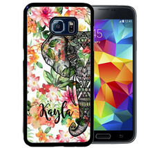 Personalized Rubber Case For Samsung S9 S8 S7 S6 S5 Plus Elephant Flowers - $14.98