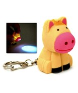LED HORSE KEYCHAIN with Light and Sound Cute Farm Animal Noise Key Chain... - $6.95
