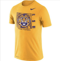 NIKE Dry LSU Tigers Football Team Issue T-Shirt  Men's Sz L *NEW* CI7376... - $30.88