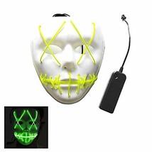 ZALU Halloween Glowing Mask, LED Light up Masks for Gifts (Lemon Green) - $18.64