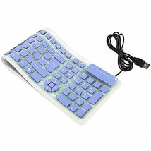 CHINFAI Portable Wired USB Keyboard Silicone Silent Waterproof Keyboards... - $428,92 MXN