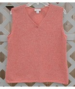 XL Christopher & Banks Orange Sweater Vest Shell - $5.00