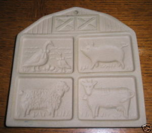 Pampered Chef Cookie Mold Farmyard Friends 1994