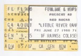 Little River Band & Pure Prarie League 6/27/80 Red Rocks Ticket Stub! De... - $14.84