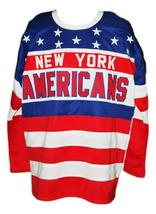 Any Name Number New York Americans Retro Hockey Jersey New Sewn Rey Any Size image 4