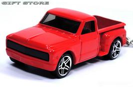 KEY CHAIN RED CHEVY/GMC CHEVROLET C10 20 C/K STEPSIDE PICKUP CUSTOM GM T... - $32.98