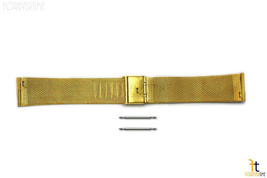 18mm fit Skagen Stainless Steel (Gold-Tone) Mesh Watch Band SPRING BARS ... - $24.13