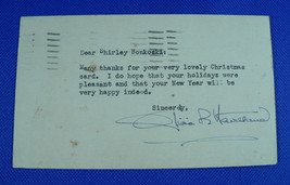 US Postal Card Signed by Olivia De Havilland, Gone with the Wind, Captai... - $97.02