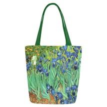 Irises Van Gogh Art Canvas Tote Bag Two Sides Printing - $17.99