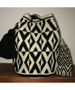 Authentic 100% Wayuu Mochila Colombian Bag large Size natural dual color... - $90.00