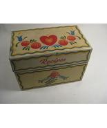 VINTAGE RECIPE BOX 1940's TIN VINTAGE OHIO ARTS - $18.00