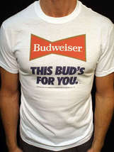 Budweiser t-shirt vintage style bud light jersey this bud's for you shir... - $19.99
