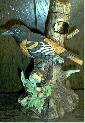 Ezra Brooks BALTIMORE ORIOLE porcelain decanter EMPTY
