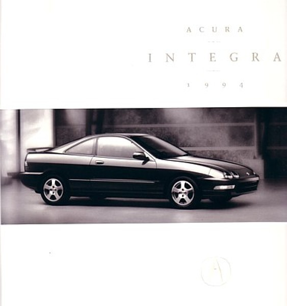 1994 Acura INTEGRA sales brochure catalog US 94 Honda